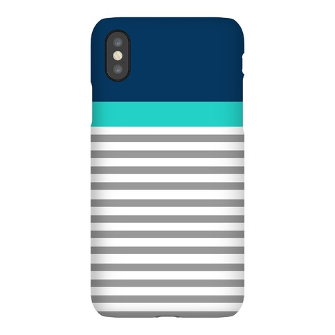 Blue Color Block Stripe Phone Case