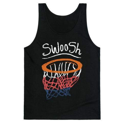 Basketball Hoop Swoosh (Vintage) Tank Top