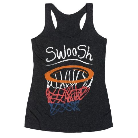Basketball Hoop Swoosh (Vintage) Racerback Tank Top