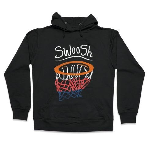 Basketball Hoop Swoosh (Vintage) Hooded Sweatshirt