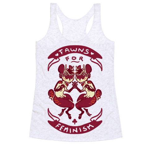 Fawns For Feminism Racerback Tank Top