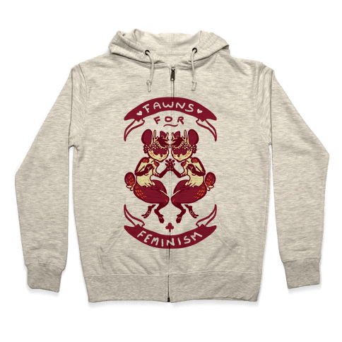 Fawns For Feminism Zip Hoodie