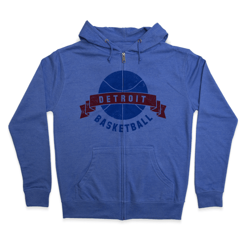 Boston Basketball Zip Hoodie