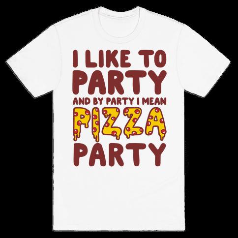 Pizza Party Mens T-Shirt
