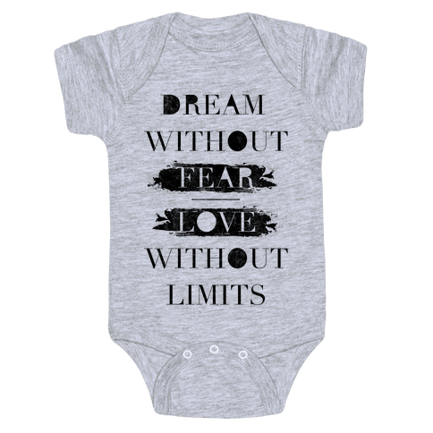 Dream Without Fear Baby Onesy