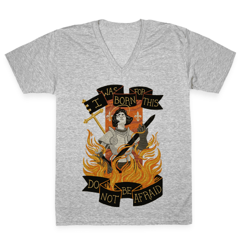 Saint Joan Of Arc V-Neck Tee Shirt