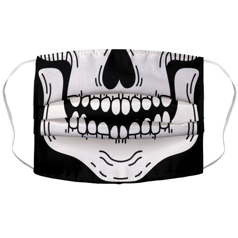 Skeleton Mouth Accordion Face Mask
