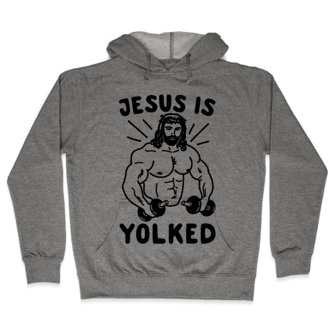 Jesus Is Yolked  Hooded Sweatshirt