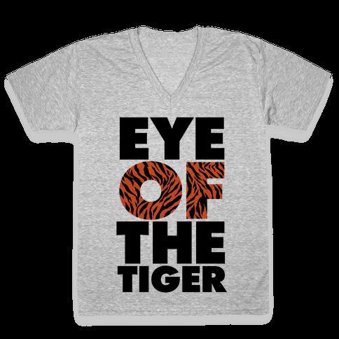 Eye Of The Tiger V-Neck Tee Shirt