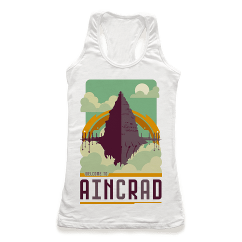 Welcome To Aincrad Racerback Tank Top