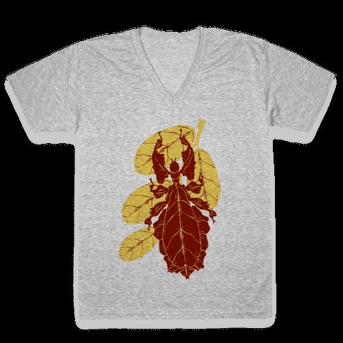 Phylliidae Walking Leaf V-Neck Tee Shirt
