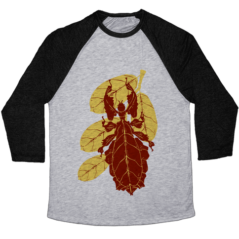 Phylliidae Walking Leaf Baseball Tee