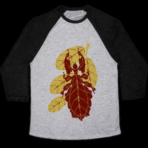 Phylliidae Walking Leaf Baseball Tee