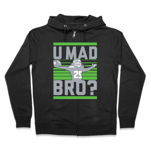 U Mad Bro? Zip Hoodie