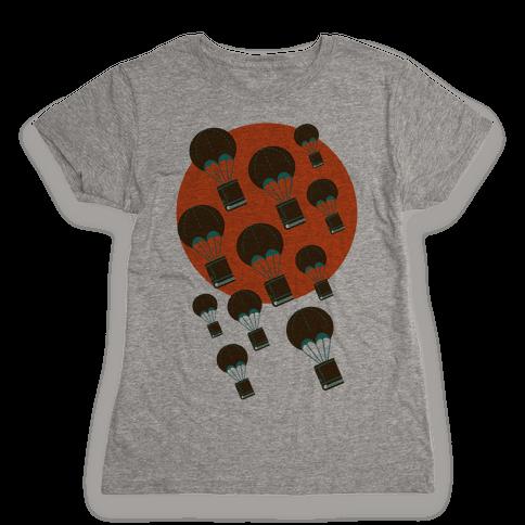 Book Drop Womens T-Shirt