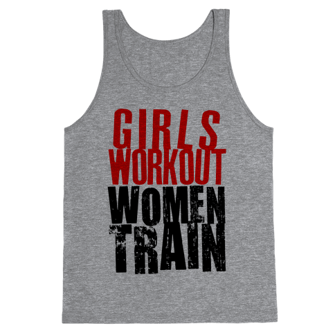 Girls Workout; Women Train Tank Top