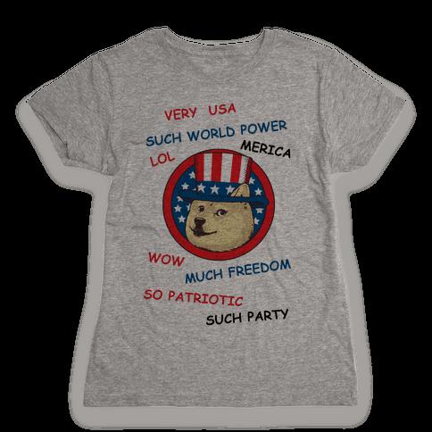 American Doge Womens T-Shirt