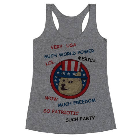 American Doge Racerback Tank Top