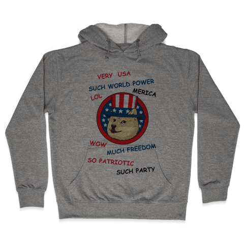 American Doge Hooded Sweatshirt