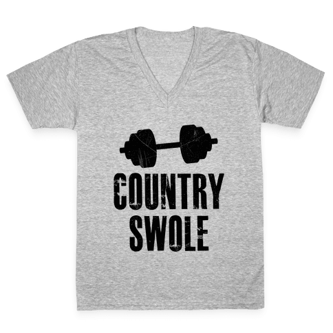 Country Swole V-Neck Tee Shirt