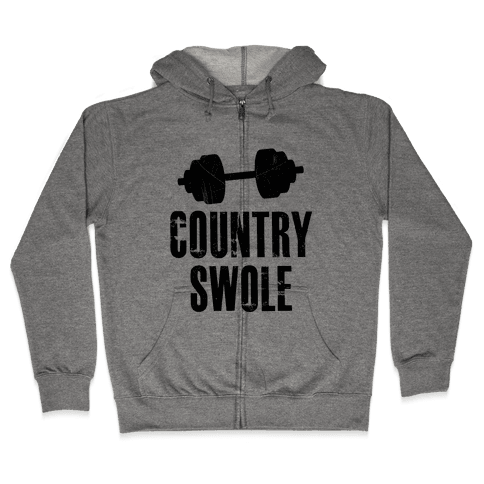 Country Swole Zip Hoodie