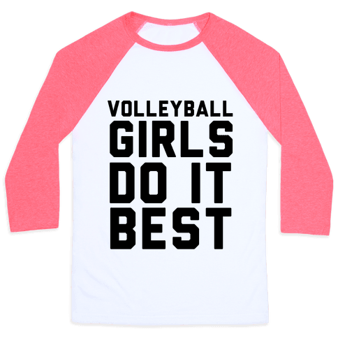 Volleyball Girls Baseball Tee