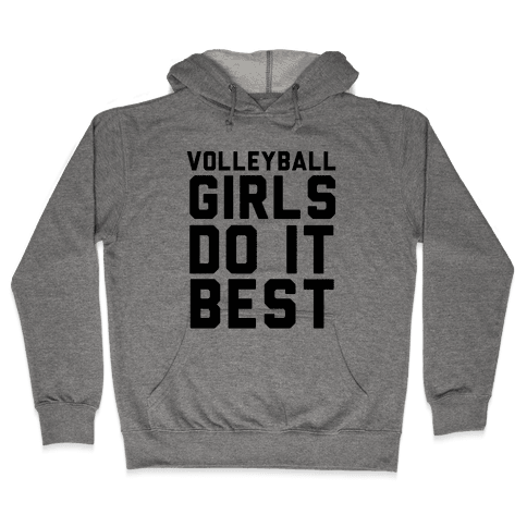 Volleyball Girls Hooded Sweatshirt