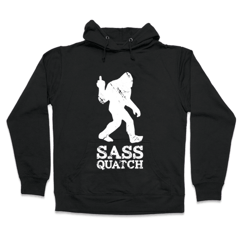 Sass Quatch Crossing Hooded Sweatshirt