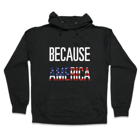 Because America Hooded Sweatshirt