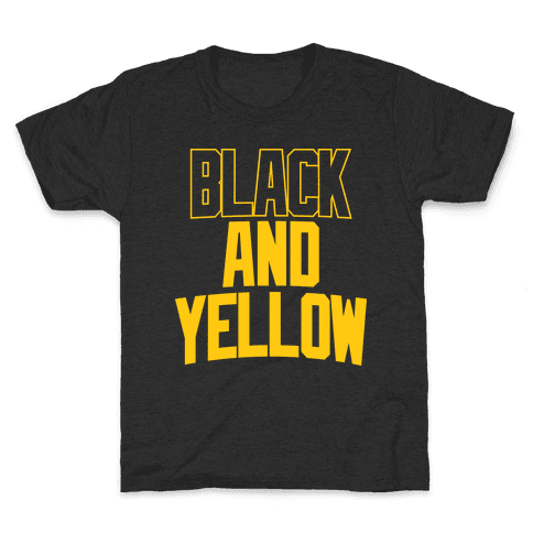 Black And Yellow Kids T-Shirt