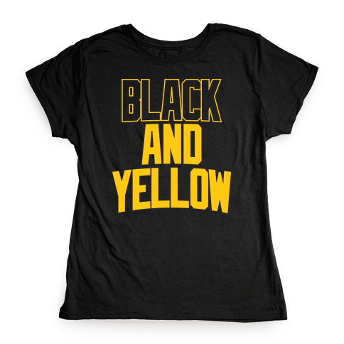 Black And Yellow Womens T-Shirt