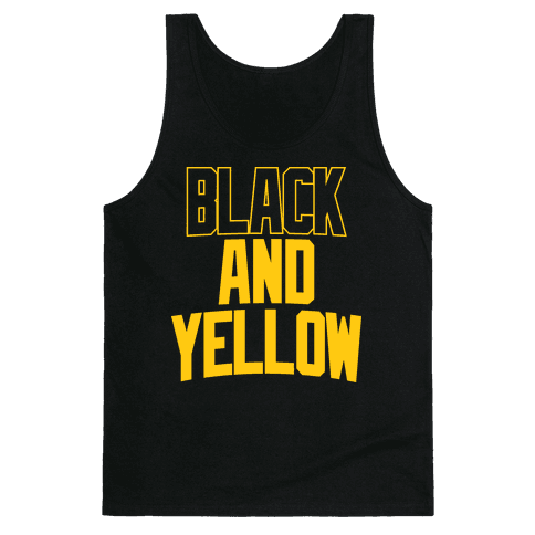 Black And Yellow Tank Top
