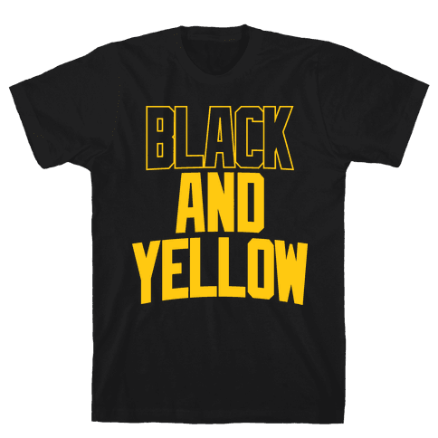 Black And Yellow Mens T-Shirt