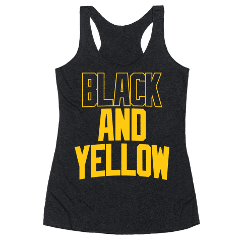 Black And Yellow Racerback Tank Top