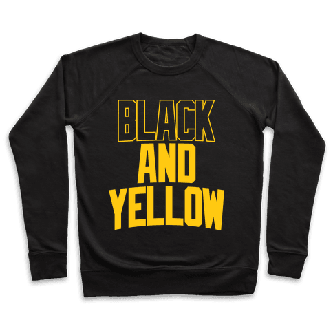Black And Yellow Pullover