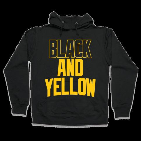 Black And Yellow Hooded Sweatshirt