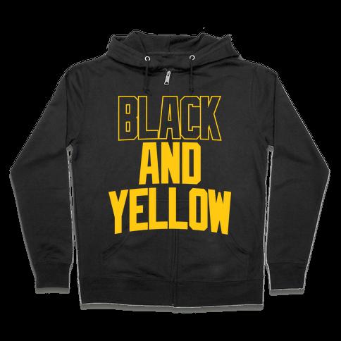 Black And Yellow Zip Hoodie