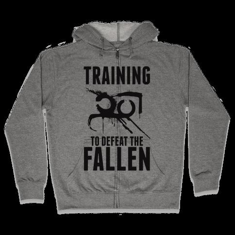 Training To Defeat The Fallen Zip Hoodie