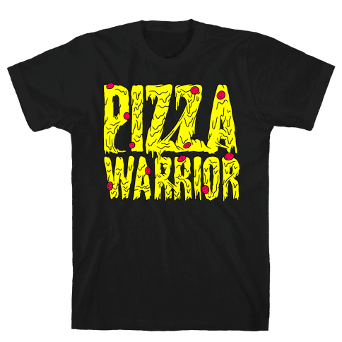 Pizza Warrior Mens T-Shirt