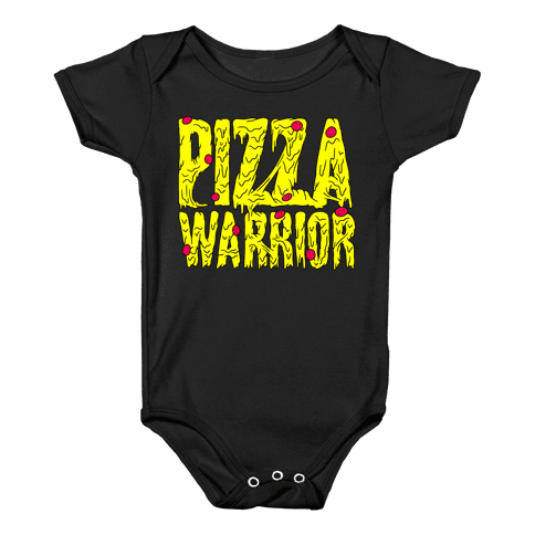 Pizza Warrior Baby Onesy
