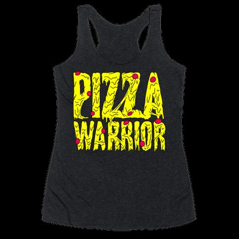 Pizza Warrior Racerback Tank Top