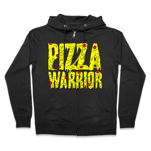Pizza Warrior Zip Hoodie