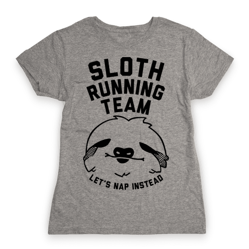 Sloth Running Team Womens T-Shirt