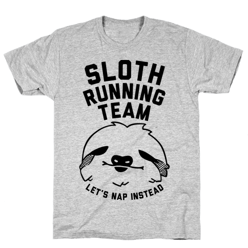Sloth Running Team Mens/Unisex T-Shirt