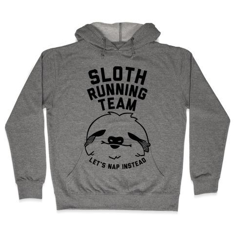 Sloth Running Team Hooded Sweatshirt