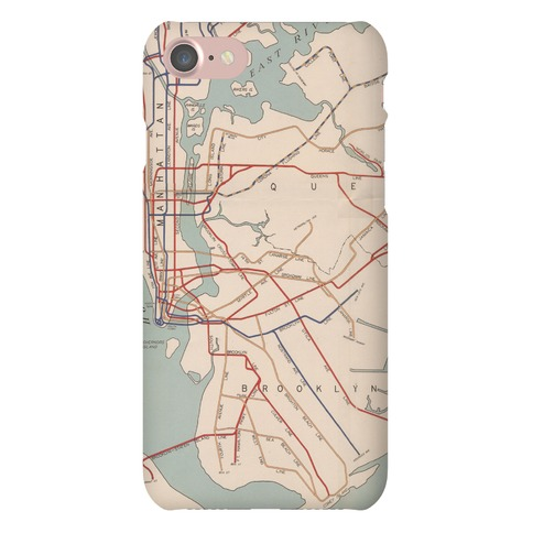 Vintage Brooklyn Map Phone Case