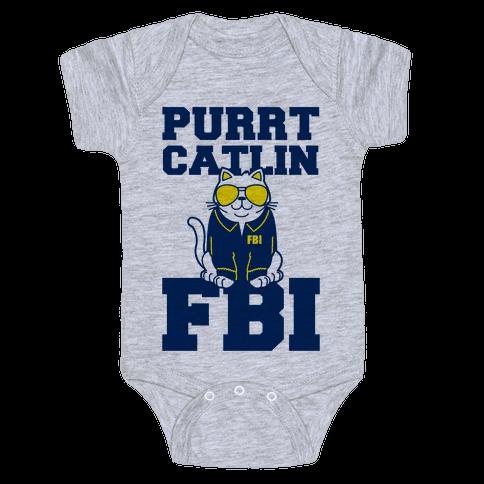 Purrt Catlin FBI Baby Onesy