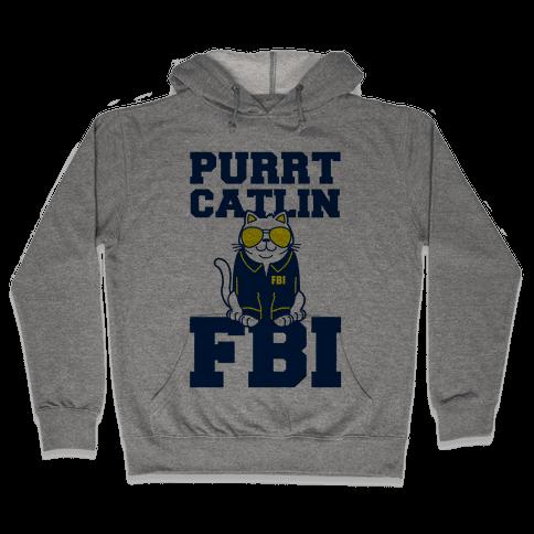 Purrt Catlin FBI Hooded Sweatshirt