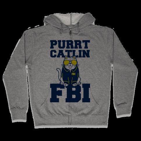 Purrt Catlin FBI Zip Hoodie