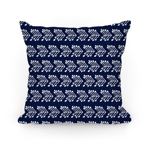 Navy Cute Chevron Pattern Pillow